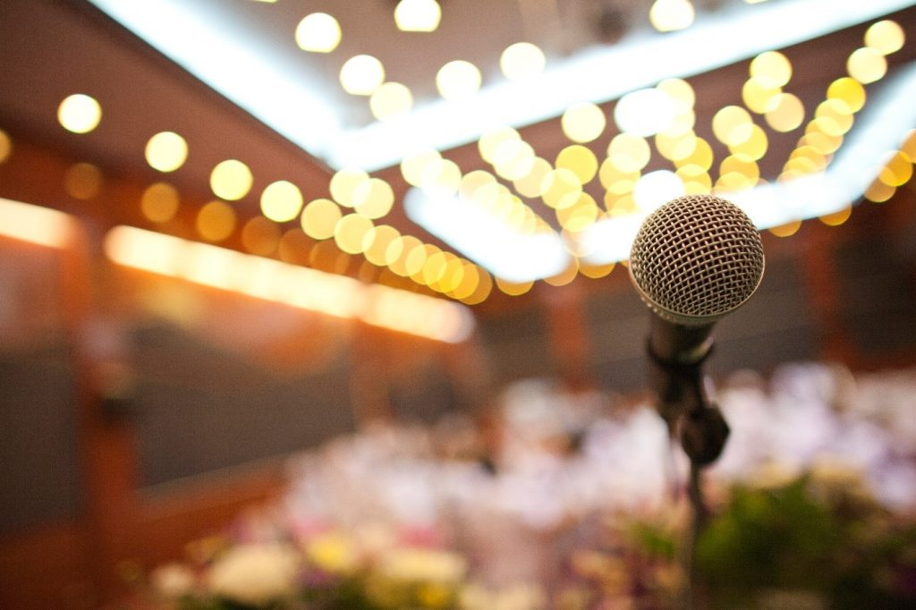 Microphone at function