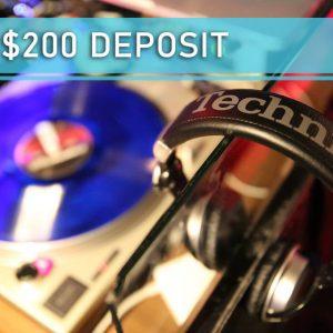 Cash deposit 200